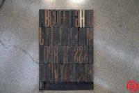 Assorted Letterpress Wood Type - 052919030109