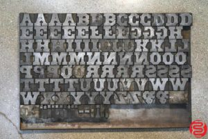 Assorted Letterpress Wood Type - Full Set Capitals - 052919035249