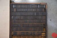 Assorted Letterpress Wood Type - Full Set Capitals Full Set Lowercase - 052919051748