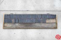 Assorted Letterpress Wood Type - 053019091549