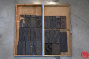 Assorted Letterpress Wood Type - 053119111742