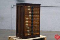 Hamilton Letterpress Type Cabinet - 052219025519