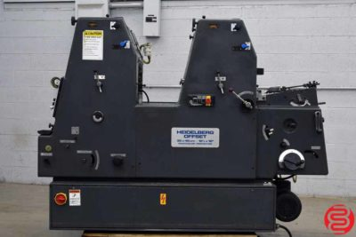 Heidelberg GTOZP 46 Two Color Offset Printing Press - 072219113347