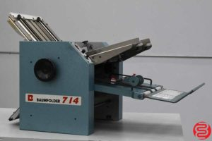 Baum 714 Friction Feed Paper Folder - 081519024109