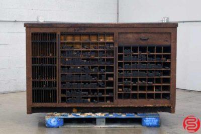 Hamilton Letterpress Type Cabinet w Composing Stone - 080919020615