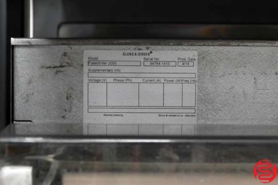 2014 Glunz and Jensen PlateWriter 2000 Computer to Plate System - 092719082159