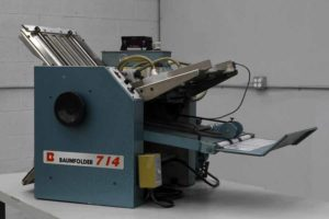 Baum 714 Vacuum Feed Paper Folder - 091019033749