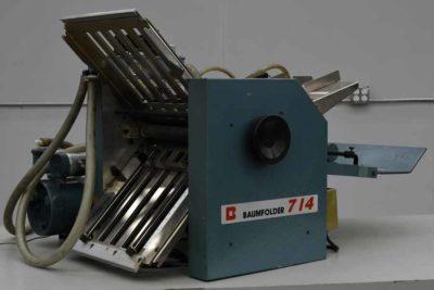 Baum 714 Vacuum Feed Paper Folder - 091019033749