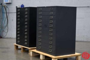 Cole-Steel Flat Filing Cabinets - Qty 2 - 082319023136