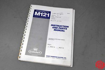 Count Numbermatic M121 Perf Slit Score Numbering Machine - 092319101512