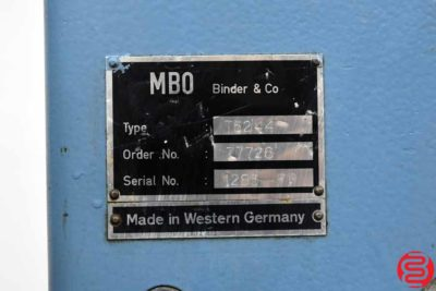 MBO T52 Pile Feed Paper Folder - 092719010101