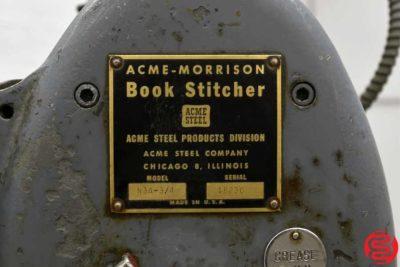 Acme Interlake N3A 34 Flat Book Saddle Stitcher - 102619112009