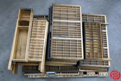 Assorted Hamilton Letterpress Type Cabinet Drawers - 101719114244
