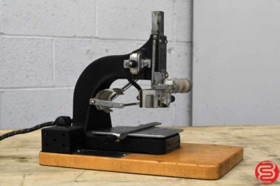 Table Top Platen Press w Slug Cutter and Numbering Machine - 100319014840