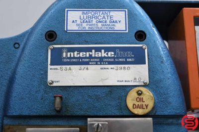 Acme Interlake S3A 34 Flat Book Saddle Stitcher - 112119011249