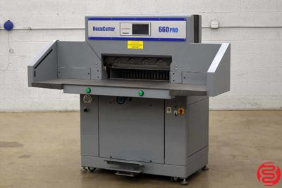 Duplo DocuCutter 660PRO Hydraulic Programmable 26 Paper Cutter - 110419021052
