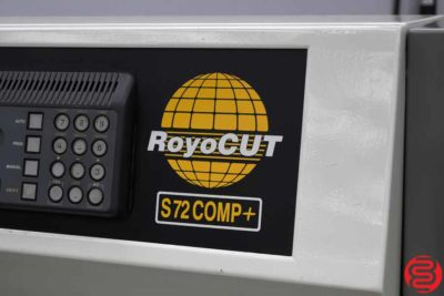 RoyoCut S72 COMP+ Hydraulic Programmable Paper Cutter - 112119112919