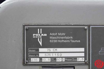1987 Polar 76 EM Programmable Paper Cutter - 120919035020