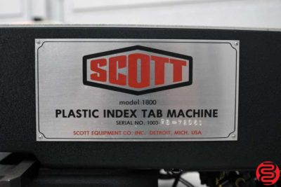 Scott 1800 Plastic Index Tab Machine - 120219030104