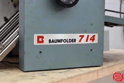 Baum 714 Vacuum Feed Paper Folder - 010920012845