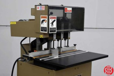 Baum ND5 Three Spindle Hydraulic Paper Drill - 010320011350