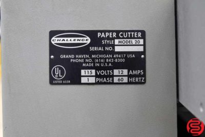Challenge Model 20 20 Paper Cutter - 010920113315