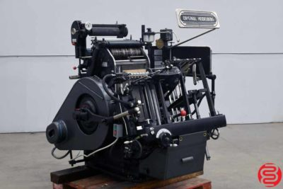 Heidelberg 10 x 15 Red Ball Windmill Letterpress - 010620115450