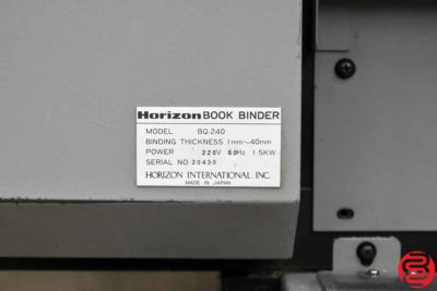 Horizon BQ-240 Perfect Binder - 011320090630
