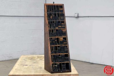 Letterpress Wood Furniture Cabinet - 010720075745