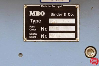 MBO B123 8 Page Unit for Paper Folder - 010720021625