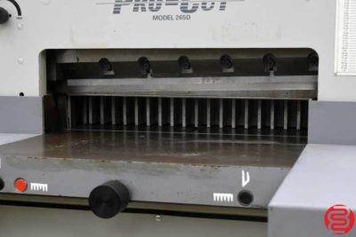 Pro-Cut 265 26 Hydraulic Paper Cutter - 012420014135