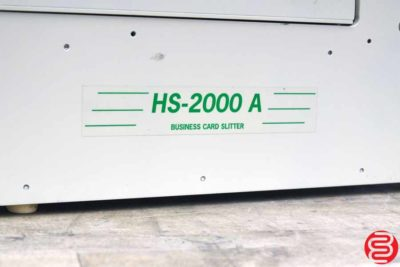 RB HS-2000 Business Card Slitter - 011420015850