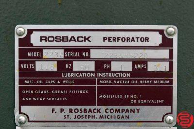 Rosback 223A 23 Perf Slit Score Machine - 011120120630