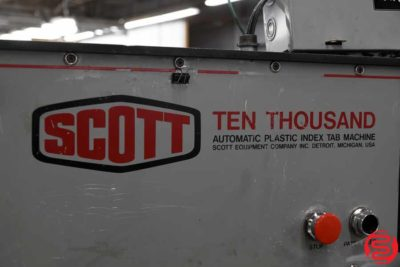 Scott Ten Thousand Automatic Plastic Index Tab Machine - 012220014750