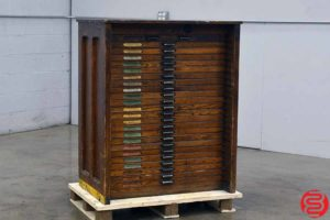 Hamilton Letterpress Type Cabinet - 24 Drawers - 021920011615
