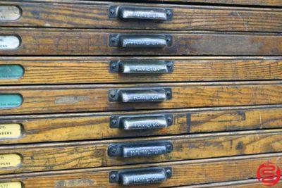 Hamilton Letterpress Type Cabinet - 24 Drawers - 021920011615