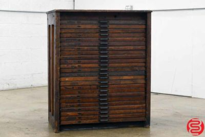 Hamilton Letterpress Type Cabinet - 24 Drawers - 021920115615