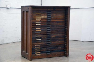 Hamilton Letterpress Type Cabinet - 24 Drawers - 022020041410