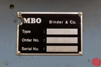 MBO B26 8 Page Unit for Paper Folder - 020320030425