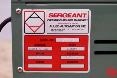 Sergeant Shrink-A-Pack Shrink Wrap System - 020320033025