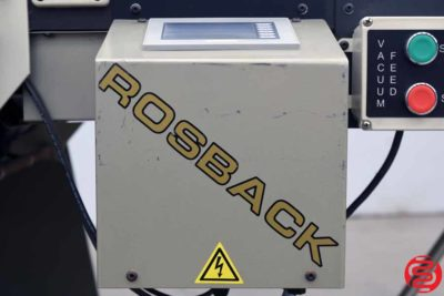 2008 Rosback 248BC Right Angle Perf Slit Score Machine - 030620110155