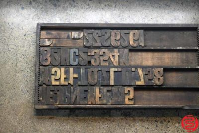 Assorted Letterpress Wood Type - 022120010125