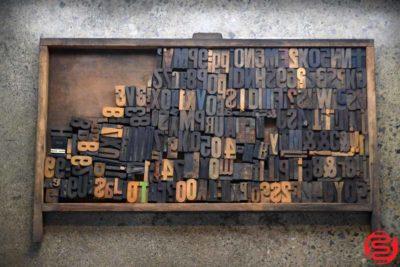 Assorted Letterpress Wood Type - 022120013140