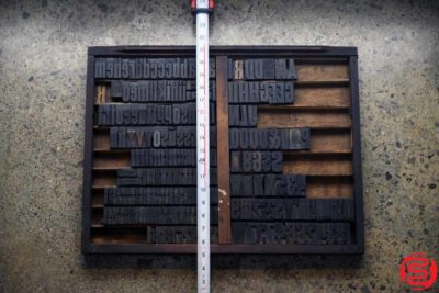 Assorted Letterpress Wood Type - 022120013212