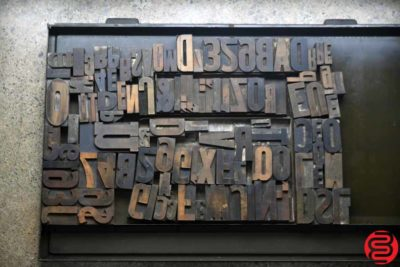 Assorted Letterpress Wood Type - 022120023150