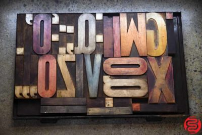 Assorted Letterpress Wood Type - 022120023225