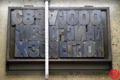 Assorted Letterpress Wood Type - 022120033450