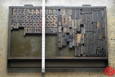 Assorted Letterpress Wood Type - 022120081350