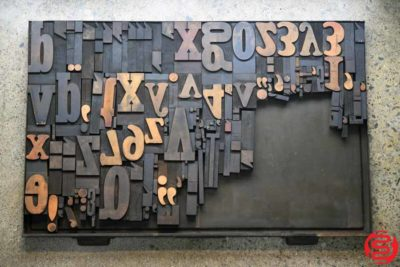 Assorted Letterpress Wood Type - 022120100520