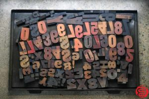 Assorted Letterpress Wood Type - 022120100550